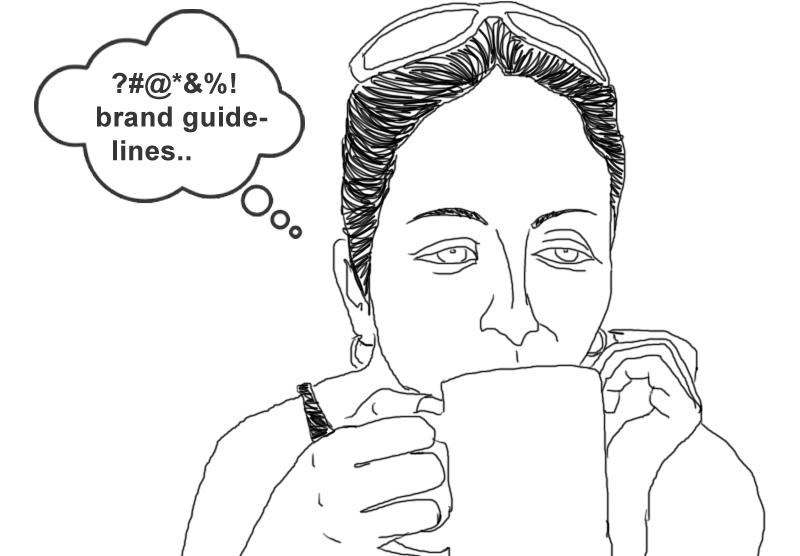 Brand guidelines suck illustration