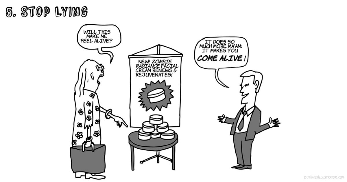 Lying salesman