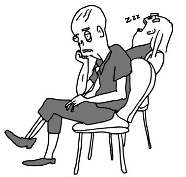 bored zombies cartoon