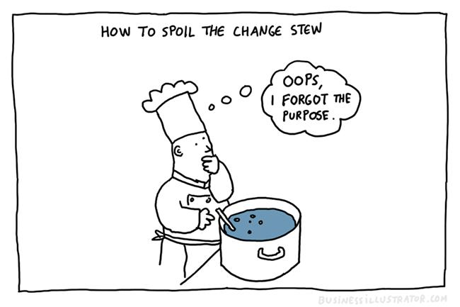 purpose of change cartoon