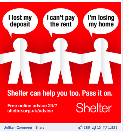 Shelter graphic on housing