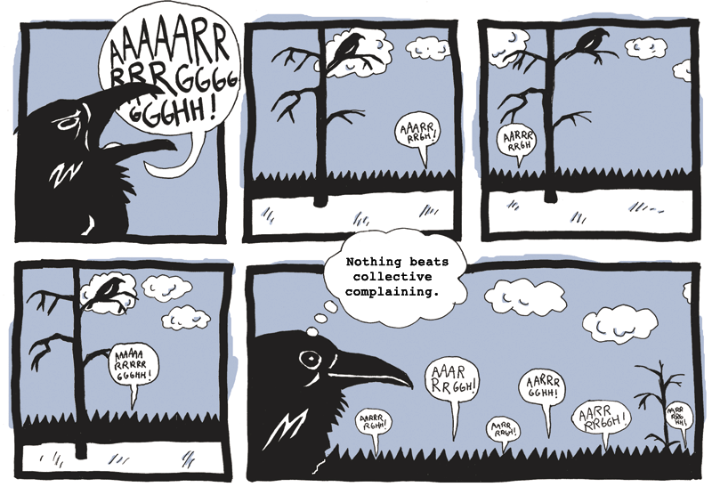 Complaining ravens