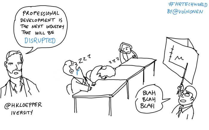Scribing at a conference Corporate training cartoon