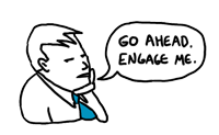 Disengaged employee cartoon