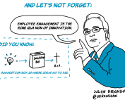 employee engagement fuels innovation cartoon