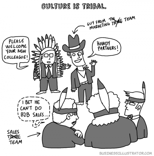 Culture is tribal cartoon - businessillustrator.com