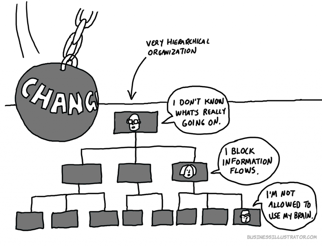 Organisational change cartoon