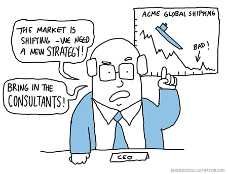 business going badly cartoon