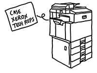 xerox machine cartoon