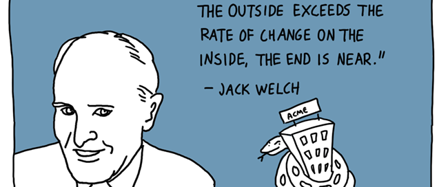 Jack Welch if the rate of change cartoon