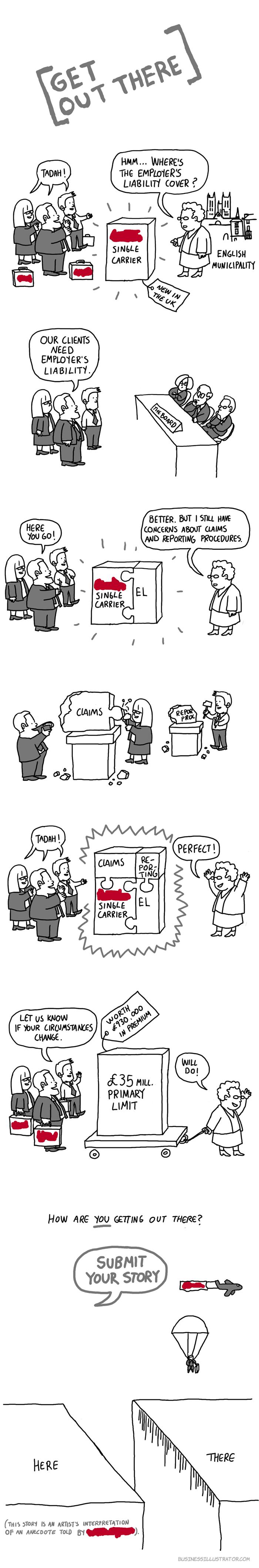behaviour change story cartoon