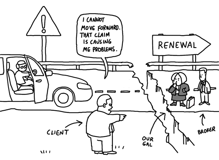 insurance claim cartoon