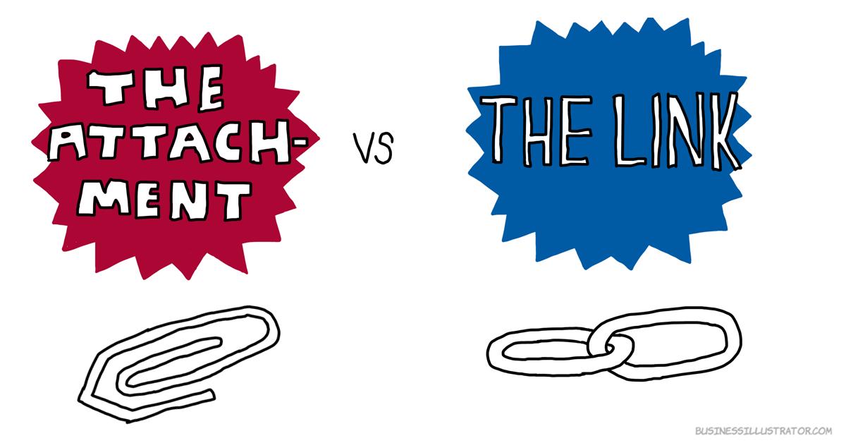 digital workplace attachment vs link businessillustrator.com