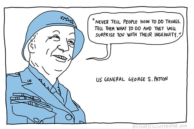 George patton quote cartoon