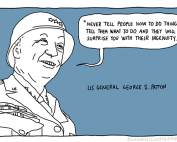 George S patton quote cartoon