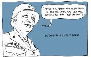 George S patton quote cartoon