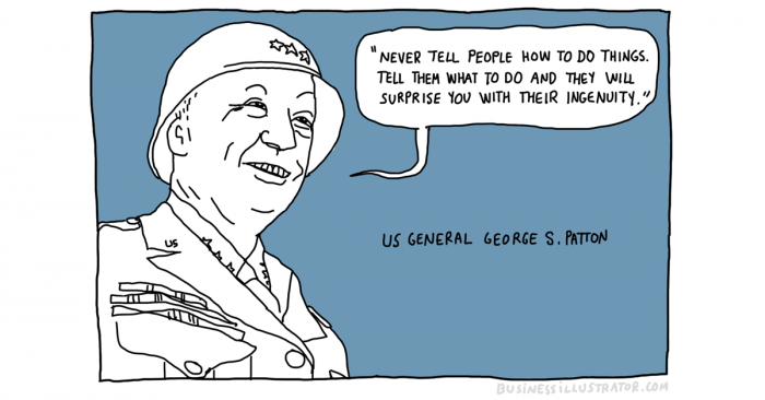 George patton quote cartoon