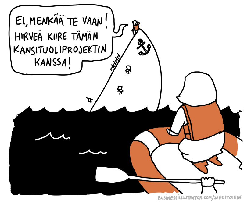 Priorisointi pilakuva - kiire Titanicilla