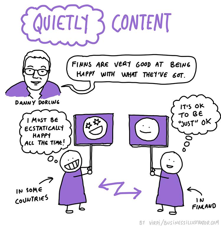 content vs happiness cartoon